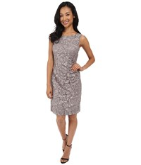 Rsvp Patricia Rouched Dress Grey Women's Dress Gray