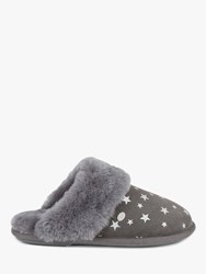 Just Sheepskin Duchess Mule Slippers Star Grey