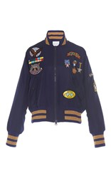 Mira Mikati Scout Patch Military Bomber Jacket Navy