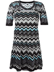 M Missoni Zig Zag Pattern Dress Black