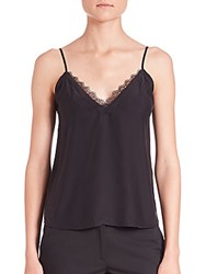 The Kooples Silk And Lace Camisole Black
