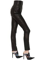 Haider Ackermann High Waist Skinny Leather Trousers