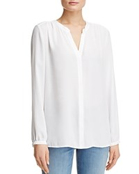 Nydj Button Front Blouse Optic White