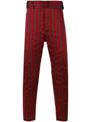 Ann Demeulemeester Striped Tapered Trousers Men Silk Cotton Polyester Xs