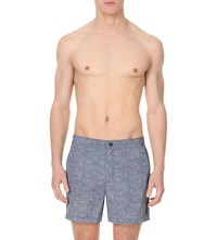 Michael Kors Mosiac Print Swim Shorts Navy