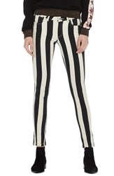 Scotch And Soda La Bohemienne Skinny Fit Pants Navy And Off White