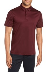 Calibrate Clean Dressy Trim Fit Polo Burgundy Royale