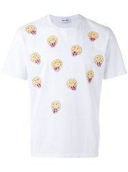 Jimi Roos Smiley Face Print T Shirt White