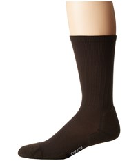 Thorlos Experia Dress Crew Single Pair Brown Men's Crew Cut Socks Shoes