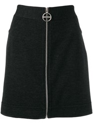 Givenchy Zipped Up Skirt Grey