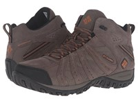 Columbia Redmond Mid Leather Omni Tech Mud Bright Copper Men's Shoes Brown