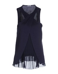 Philosophy Di Alberta Ferretti Topwear Tops Women Dark Blue
