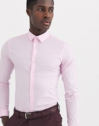 French Connection Plain Stretch Skinny Fit Shirt Pink