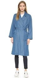 M.I.H Jeans Carmel Trench Coat Double Blue