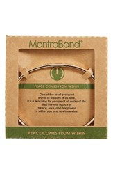 Mantraband Women's Peace Comes From Within Engraved Rose Gold