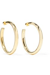Jennifer Fisher Samira Gold Plated Hoop Earrings One Size