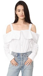 Clu Off The Shoulder Shirt White