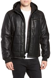 Members Only Quilted Convertible Vest Jacket Black