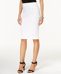 Alfani Jacquard Pencil Skirt Only At Macy's Bright White