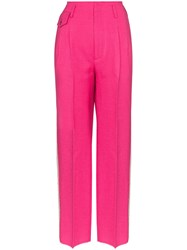 Golden Goose Sally Striped Pleated Trousers Pink