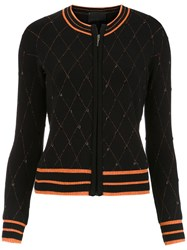 Andrea Bogosian Embroidered Cardigan Black