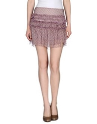 Fornarina Mini Skirts Lilac