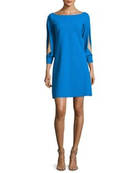 La Petite Robe Di Chiara Boni Tony Slit Sleeve Cocktail Dress Blue
