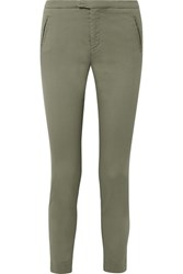 Atm Anthony Thomas Melillo Stretch Cotton Twill Tapered Pants Army Green