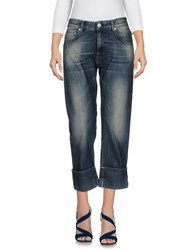 Care Label Denim Capris Blue