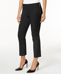 Alfani Cropped Side Zip Pants Only At Macy's Deep Black