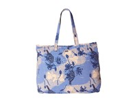 Roxy It Favorite Vintage Heritage Combo Chambray Tote Handbags Blue