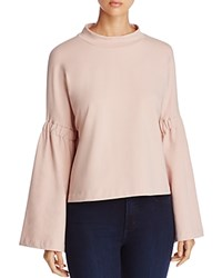 Vince Camuto Bell Sleeve Sweatshirt Dusty Blush