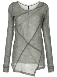 Taylor Mosaic Jumper Grey