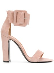 Via Roma 15 Ankle Strap Sandals Pink And Purple