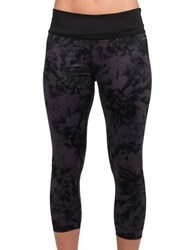 Jockey Rev Geo Floral Capris Iron Grey Black