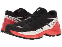 Salomon S Lab Wings 8 Sg Black Racing Red White Athletic Shoes