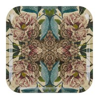 Avenida Home Patch Nyc Floral Tray Square Peonies