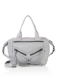 Botkier New York Trigger Convertible Leather Satchel Steel