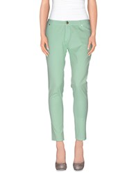 Maison Espin Casual Pants Light Green