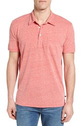 Bonobos Men's La Jersey Polo Heather Red