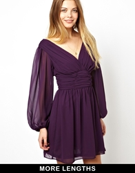 Asos Skater Dress With Long Sleeve