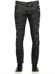 Diesel 16Cm Tepphar Coated Stretch Denim Jeans