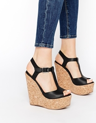 Truffle Collection Wed T Bar Heeled Sandals Black