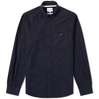 Norse Projects Anton Brushed Flannel Shirt Blue