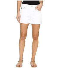 Ag Adriano Goldschmied Hailey Boyfriend Shorts In White White Women's Shorts