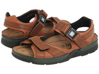 Mephisto Shark Chestnut Waxy Tan Full Grain Leather Men's Sandals Brown