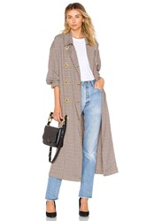 Free People Melody Menswear Trench Coat Brown
