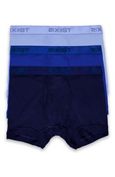 2Xist Men's 2 X Ist Cotton Boxer Briefs Navy Cobalt Porcelain