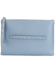 Red Valentino Studded Clutch Blue