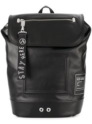Kenzo Flap Backpack Black